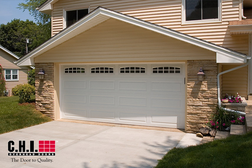 16x7 long panel garage door
