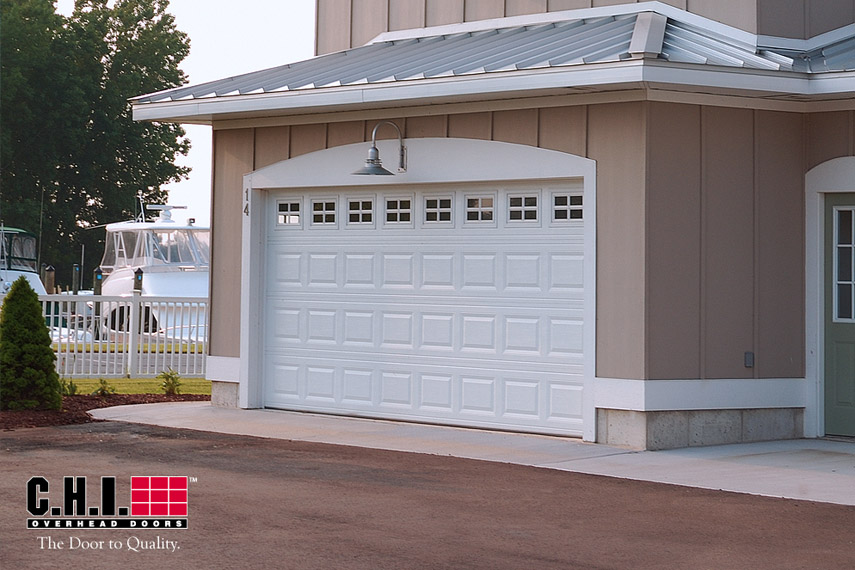 16x7 Almond Garage Door Gallery