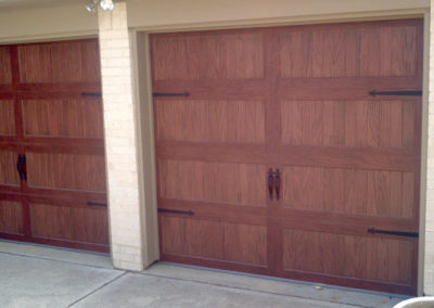 Type of door:2-8x7 Accent Dark Oak Model #5983 with Stamped hardware